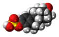 Estrone sulfate 3D spacefill.png