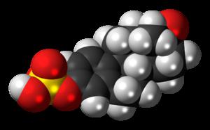 Estrone sulfate - Image: Estrone sulfate 3D spacefill