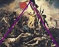 Eugène Delacroix - La liberté guidant le peuple, pyramide.jpg