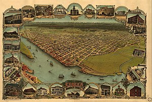 Old Town Eureka - Image: Eureka California Illustrated Map 1902
