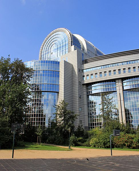Paul-Henri Spaak Building, housing the European Parliament in Brussels. It is part of the Espace Léopold complex.