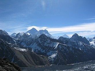 Gokyo Ri - Everest, Lhotse and Makalu from the summit of Gokyo Ri