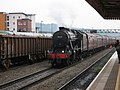 Ex-LMS 8F 48151 passes through Cardiff Central - geograph.org.uk - 1617308.jpg
