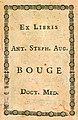 Ex-libris Ant. Steph. Aug. Bouge, doct. med.jpg