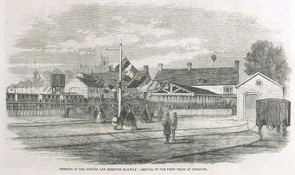 Exmouth first train 1861