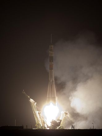 Soyuz TMA-17 - Soyuz TMA-17 launches from the Baikonour Cosmodrome on 20 December 2009.
