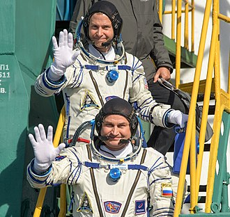 Soyuz MS-10 - Nick Hague (above) and Aleksey Ovchinin (below), pictured at Pad 1/5.