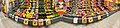 Extra Coop Supermarket, Amfi Shopping mall, Osøyro, Hordaland, Norway, Distorted panorama 2018-03-22. Vegetables and fruit, aisle, display, mirrors, potatoes, (grønnsaks- og fruktdisk) B.jpg