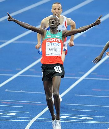 English: Ezekiel Kemboi at the World Champions...