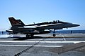 F-18C of VFA-15 landing on USS G.H.W.Bush (CVN-77) in 2011.jpg