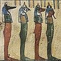 F4155 Louvre offrande a Osiris par le portier du temple Amon Irethorrou N3387 detail 4 fils horus.rwk.jpg