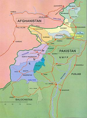 Территория племён федерального управления на карте