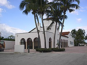 Boca Express Train Museum - The Florida East Coast Railway Station in Boca Raton was renovated as the Count de Hournle Pavilion, and then became the Boca Express Train Museum