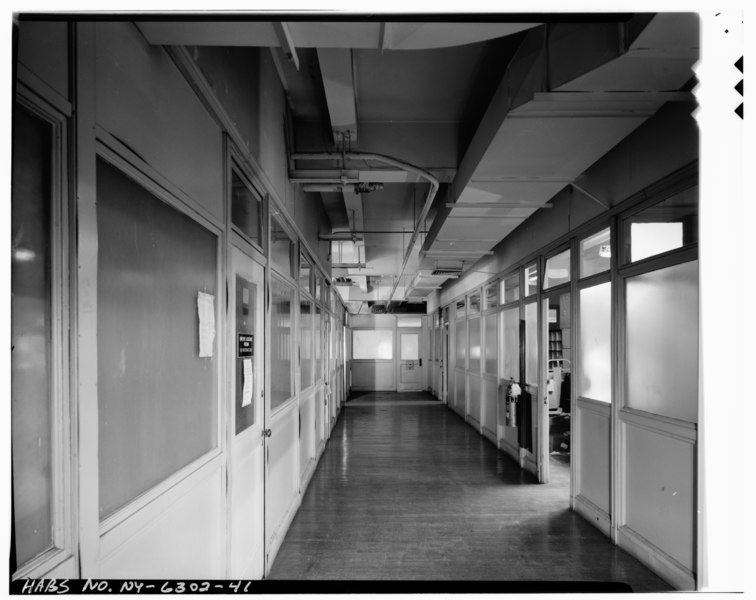 File fifth floor looking southeast at metal partitions grand central post office annex forty for 130 william street 5th floor