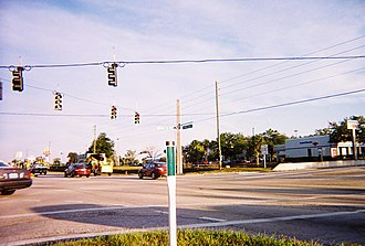 Florida State Road 50 - Suburban sprawl at the intersection of SR 50 and Mariner Boulevard.