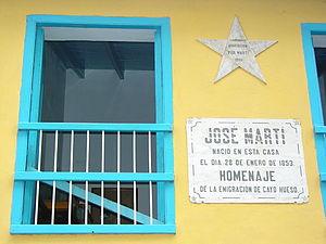 English: Facade of house of Jose Marti, Habana...