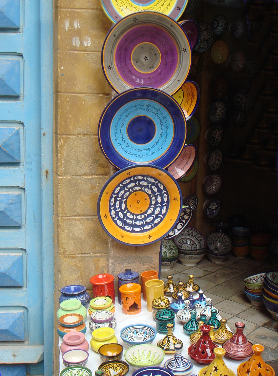Faience in Essasouira