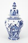 Fajans, urna med lock, 1700-tal - Hallwylska museet - 90509.tif
