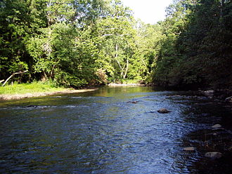 Fall Creek (Indiana) - Fall Creek at Fort Harrison State Park