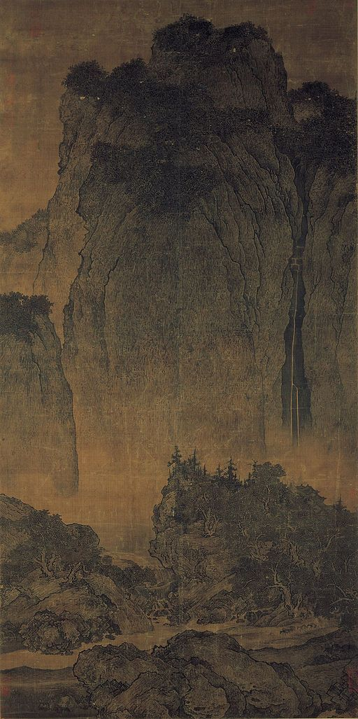 Fan Kuan - Travelers Among Mountains and Streams - Google Art Project