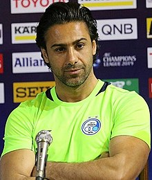 Farhad Majidi, Esteghlal-Duhail press conference 20190505 1.jpg
