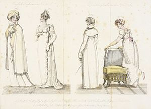 La Belle Assemblée - Image: Fashion Plate (English Fashions in Novr. 1806 Parisian Fashions in Novr. 1806) LACMA M.86.266.59