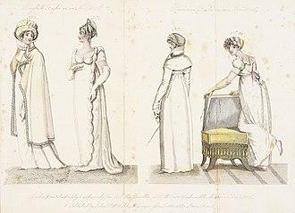 La Belle Assemblée - Image: Fashion Plate (English Fashions in Novr. 1806 Parisian Fashions in Novr. 1806) LACMA M.86.266.59
