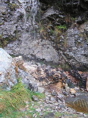 Knockan Crag National Nature Reserve - Image: Faultline at Knockan Crag