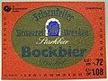 Felsenkeller Brauerei Dresden, Bockbier Dunkel Etikett (DDR).jpg