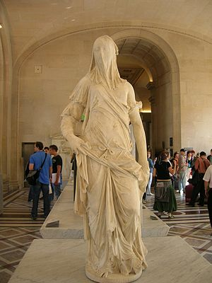 Antonio Corradini - Femme Voilée on display at the Louvre