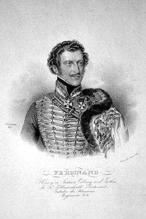 House of Saxe-Coburg and Gotha-Koháry - Image: Ferdinand I. Sachsen Coburg Gotha Litho