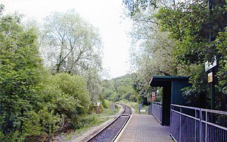 Fernhill railway station - Fernhill railway station in 2004 Photograph by Ben Brooksbank
