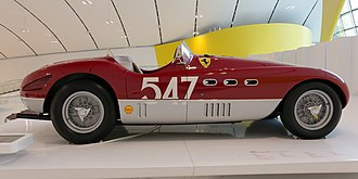 Gianni Marzotto - Ferrari 340 MM spider Vignale which won in the hands of Giannino Marzotto, pictured in the Enzo Ferrari Museum