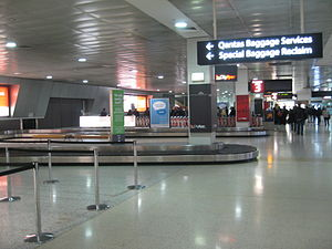 Baggage collection area at Melbourne airport d...