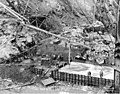 First pour of concrete into dam form, February 11, 1925 (SPWS 321).jpg