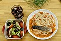 Fish and noodle dish with fruit.jpg