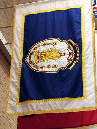 Symbols of Springfield, Massachusetts - Image: Flag of Springfield Example in Beacon Hill Hall of Flags