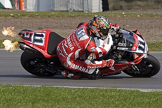 Troy Corser - Corser at Donington Park World Superbike races in 2007