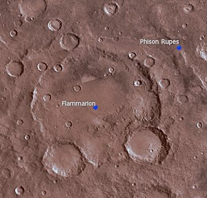 Flammarion (Martian crater) - Location of Flammarion Crater