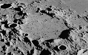 Flammarion (lunar crater) - Oblique view from Apollo 16