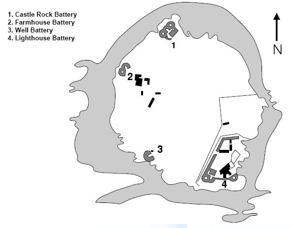 Flat Holm Battery sites