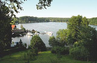 Schwarzer See (Rheinsberg) lake in Brandenburg, Germany