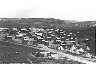 Mishmar HaEmek - Mishmar HaEmek with Manasseh Heights in the background, 1933