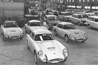 Autocars Co. - Sabra, Sussita, and Carmel cars at the factory in 1967