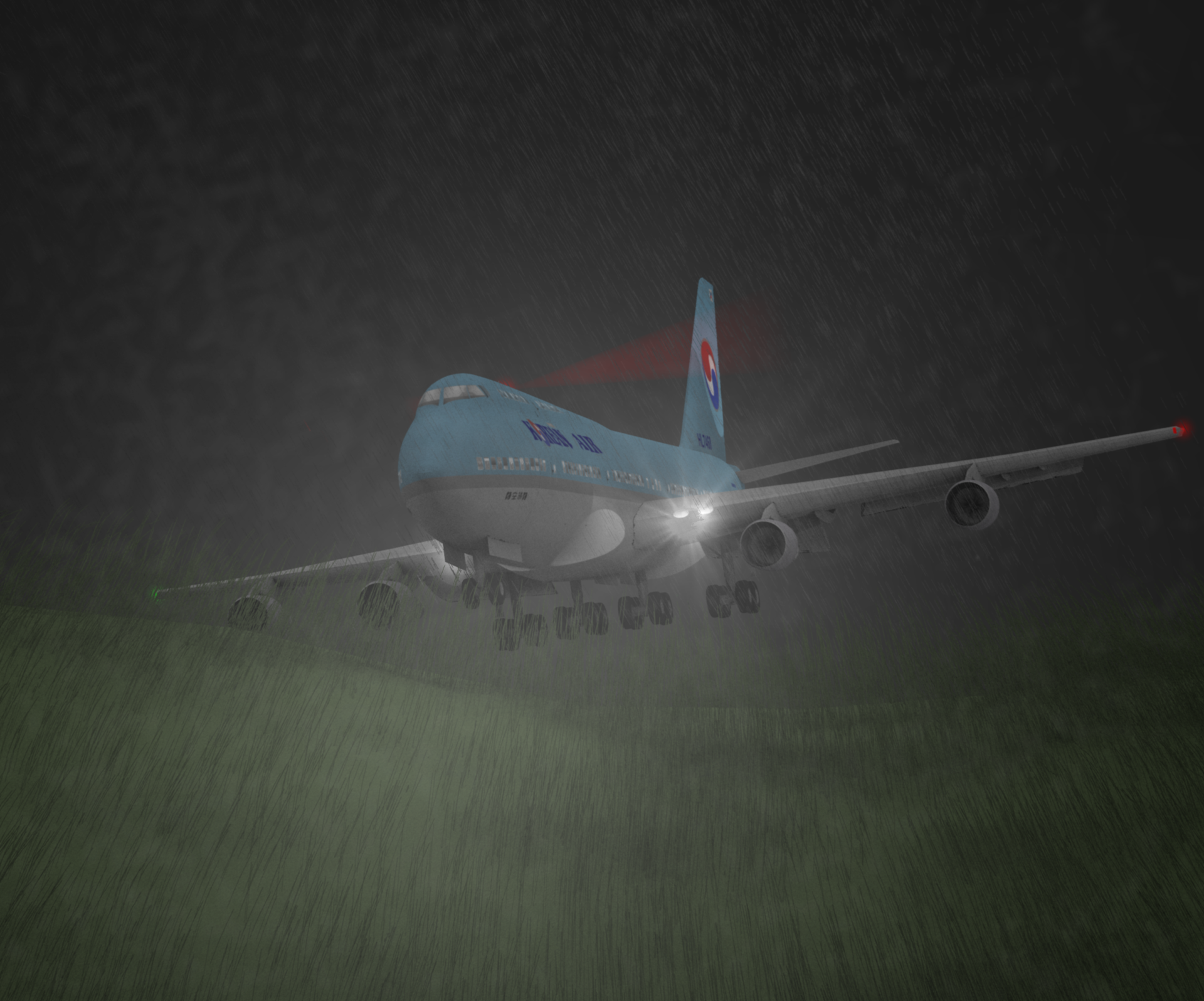 korean air 801 Korean air flight 801 was a regular flight from seoul to guam the boeing 747-300 departed the gate about 21:27 and was airborne about 21:53.