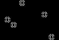 Struktur von 2-Desoxy-2-fluor-D-glucose