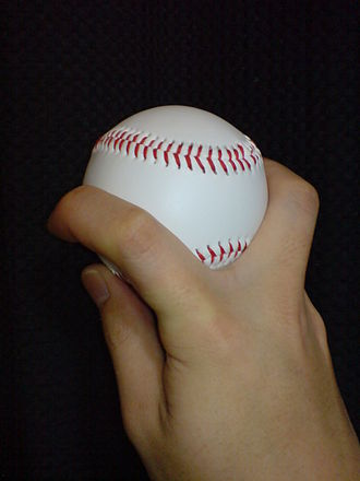 Forkball - The grip used for a forkball