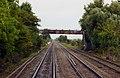 Footbridge to the footpath at Northway - geograph.org.uk - 1702508.jpg