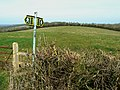 Footpath entrance, Bowd's Lane, near Lyneham - geograph.org.uk - 1208398.jpg