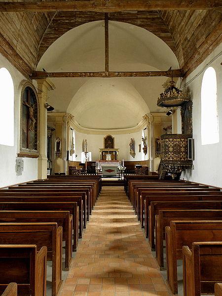 Église Sainte-Marie-Madeleine de Forcé (53). Nef.